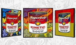 Campbell's Superpop by Patrick Rubinstein - Kinetic Edition sized 27x27 inches. Available from Whitewall Galleries